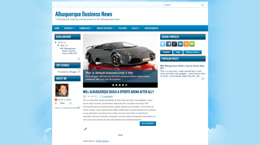 Albuquerque Business News Home page