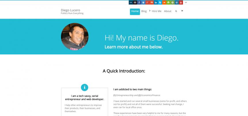 Diego-Lucero.com Home Page