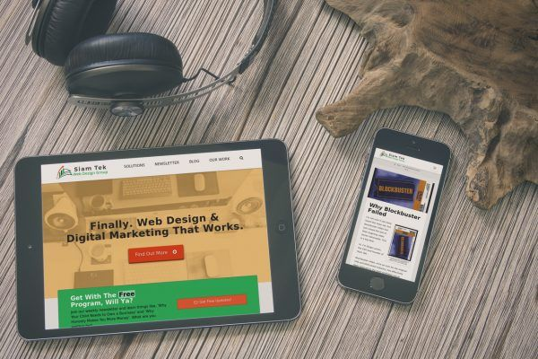 Siam Tek's Website mobile-ready website on tablet and phone